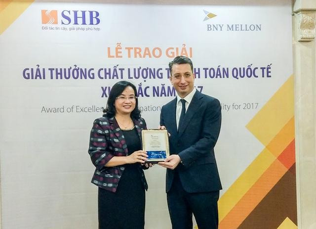 SHB tiếp tục giành giải Ngân hàng có dịch vụ thanh toán quốc tế xuất sắc