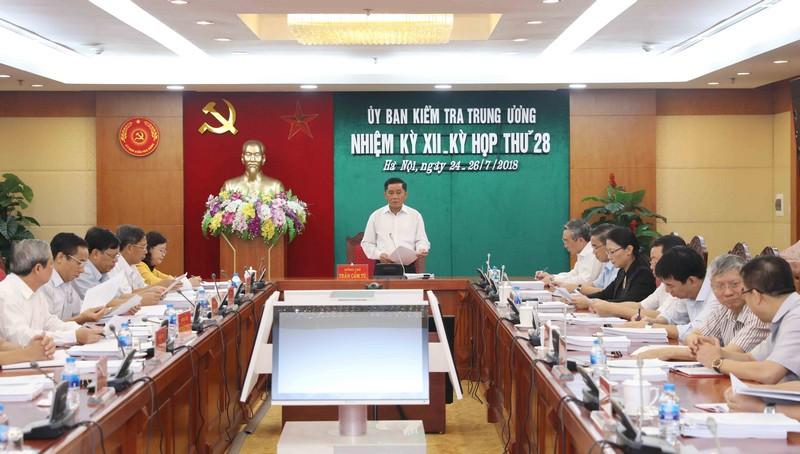 Kỳ họp 28 của Ủy ban Kiểm tra Trung ương