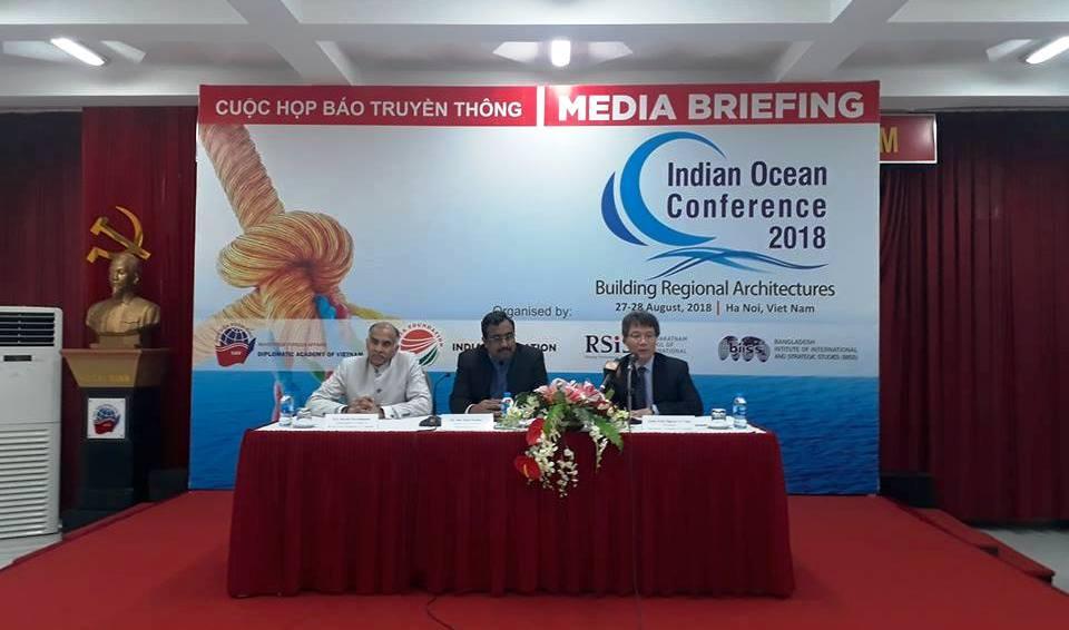250 đại biểu từ 43 quốc gia sẽ tham dự Hội thảo Ấn Độ Dương lần thứ ba tại Hà Nội