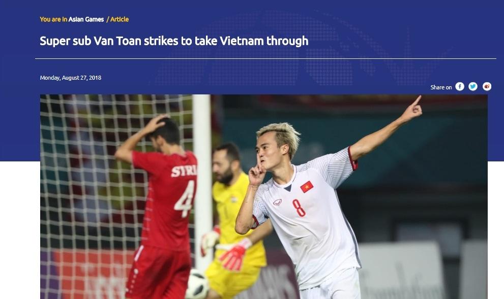 Báo chí quốc tế khen ngợi chiến thắng của Olympic Việt Nam
