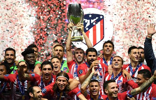 Atletico lần thứ 3 giành Siêu Cúp châu Âu