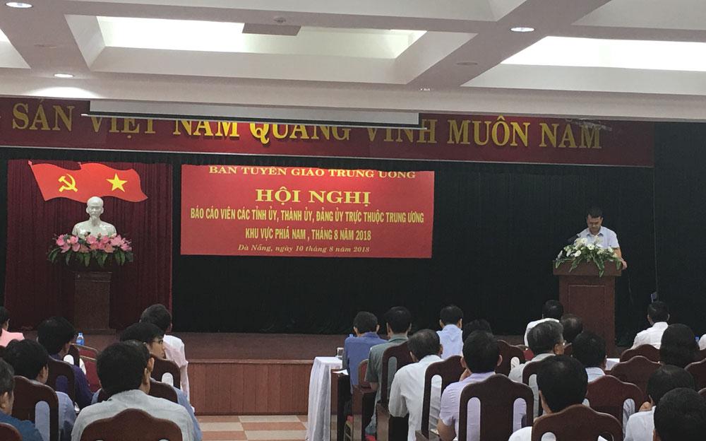 Hội nghị báo cáo viên các tỉnh ủy, thành ủy, đảng ủy trực thuộc Trung ương khu vực phía Nam