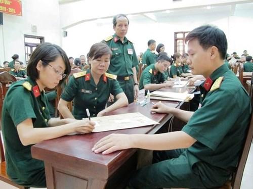 Công bố điểm chuẩn vào các học viện, trường trong Quân đội năm 2018