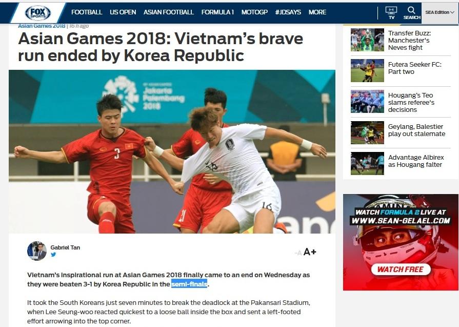 """""""Olympic Việt Nam đã có một hành trình đầy cảm hứng tại ASIAD 2018"""""""