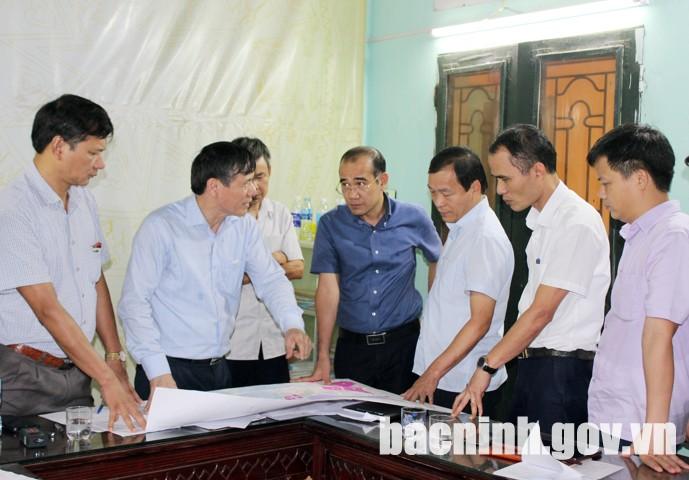 Giải quyết vướng mắc mặt bằng dự án TBA 110kV Nam Sơn - Hạp Lĩnh