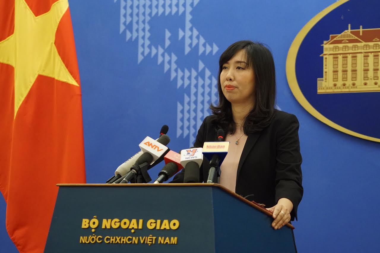 Việt Nam yêu cầu Trung Quốc chấm dứt ngay hoạt động vi phạm chủ quyền