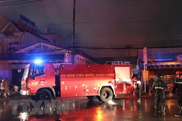 Khống chế hoàn toàn vụ cháy tại công ty cao su tại Long An