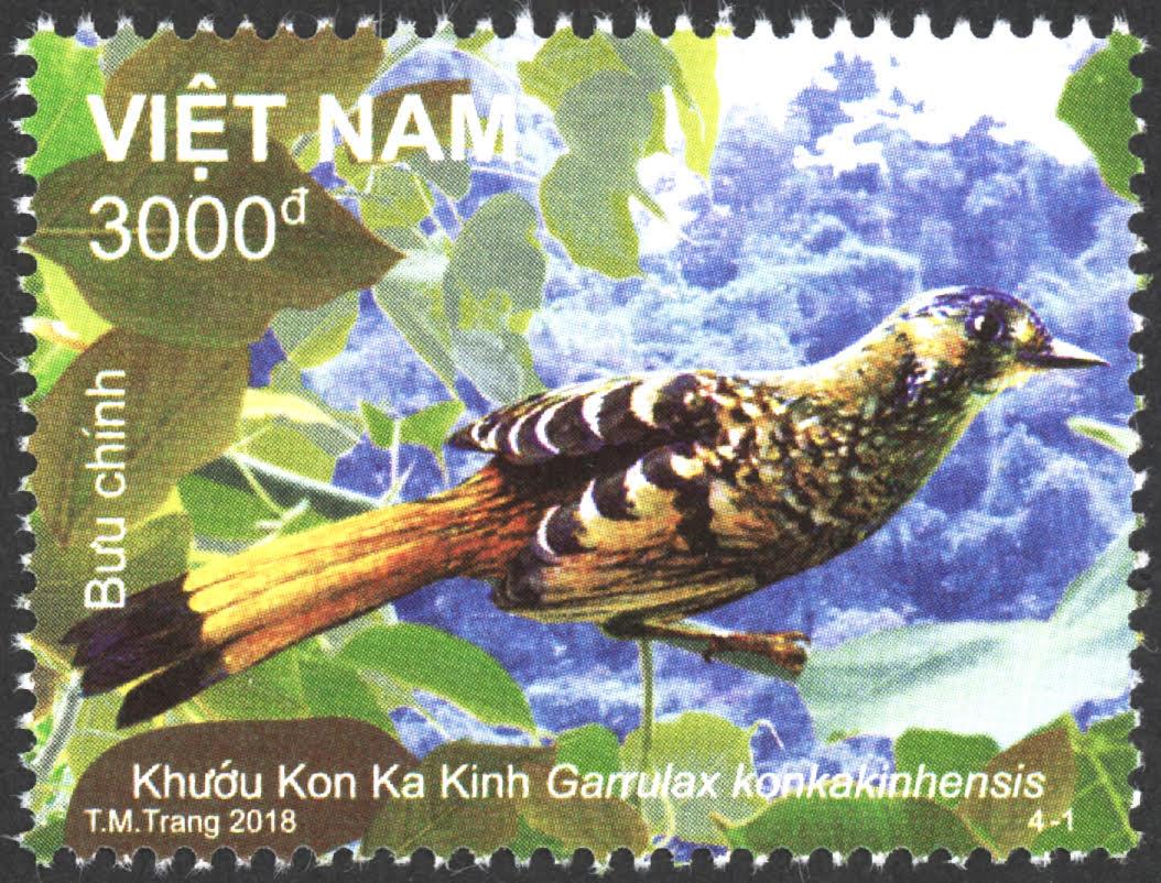 Động vật Vườn Quốc gia Kon Ka Kinh lên tem bưu chính