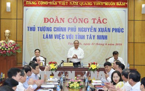 Thủ tướng Nguyễn Xuân Phúc: Tây Ninh cần trở thành trung tâm chế biến nông sản chất lượng cao của cả nước