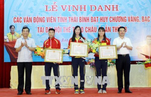 Thái Bình vinh danh các vận động viên thành tích cao