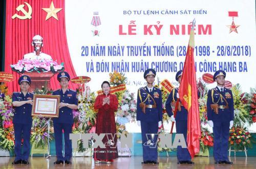 Bộ Tư lệnh Cảnh sát biển đón nhận Huân chương Quân công hạng Ba
