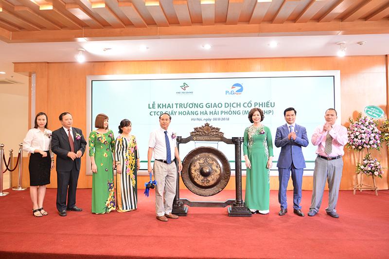 10 triệu cổ phiếu của Công ty cổ phần Giấy Hoàng Hà Hải Phòng chính thức lên sàn giao dịch