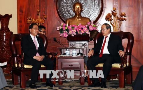 Lãnh đạo Thành phố Hồ Chí Minh tiếp Thống đốc tỉnh Yamanashi, Nhật Bản