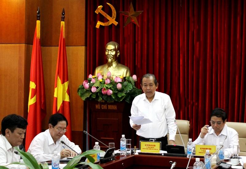 Phó Thủ tướng Trương Hòa Bình: Xác định rõ chế độ trách nhiệm theo các nghị quyết của Đảng
