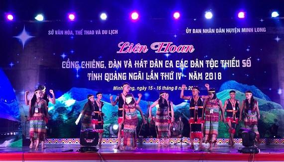 Liên hoan Cồng chiêng, đàn và hát dân ca các dân tộc thiểu số tỉnh Quảng Ngãi