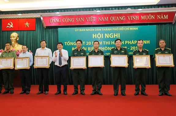 Thành phố Hồ Chí Minh tổng kết 20 năm thi hành Pháp lệnh Bộ đội biên phòng