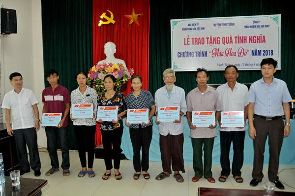 Chương trình Màu hoa đỏ 2018 trao quà tình nghĩa tại huyện Vĩnh Tường (Vĩnh Phúc)