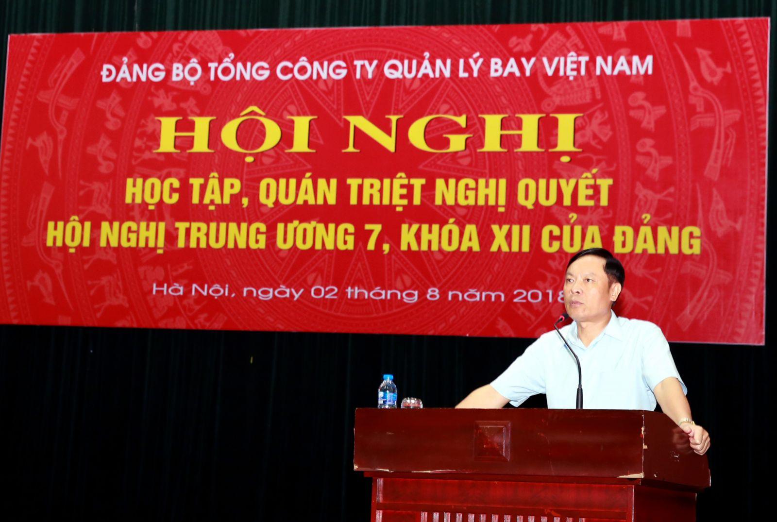Tổng công ty Quản lý bay Việt Nam quán triệt Nghị quyết Hội nghị Trung ương 7