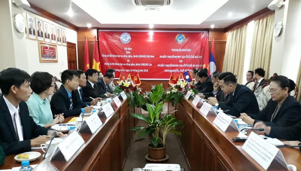 Bộ Khoa học và Công nghệ Việt Nam và Lào đẩy mạnh hợp tác về công tác Đảng  