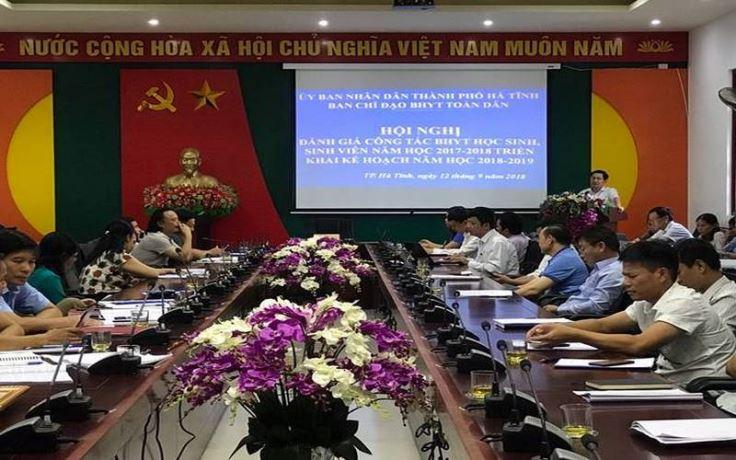 TP. Hà Tĩnh: Năm học 2018 – 2019, phấn đấu 100% tỷ lệ học sinh tham gia BHYT