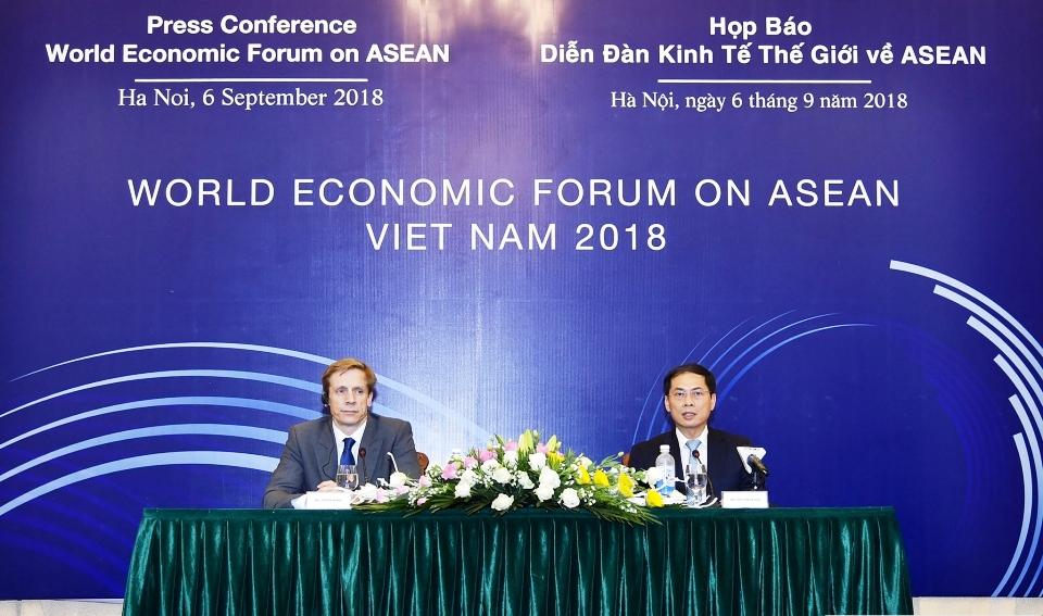 Họp báo quốc tế về WEF ASEAN 2018