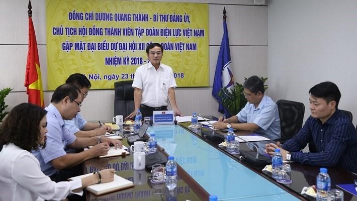 Bí thư Đảng ủy EVN gặp mặt đoàn đại biểu dự Đại hội Công đoàn Việt Nam lần thứ XII