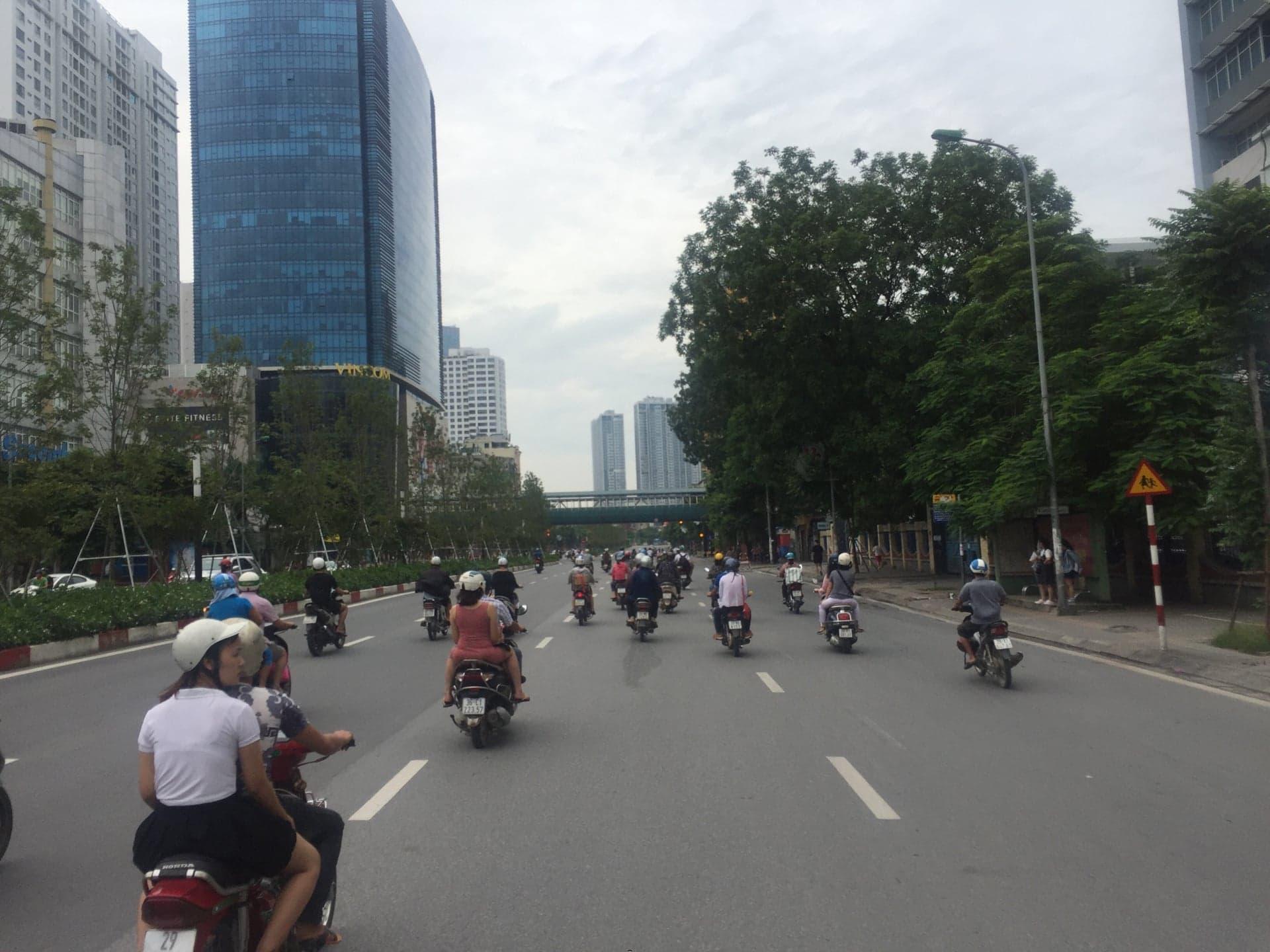 Đường phố Hà Nội thông thoáng trong ngày Quốc khánh