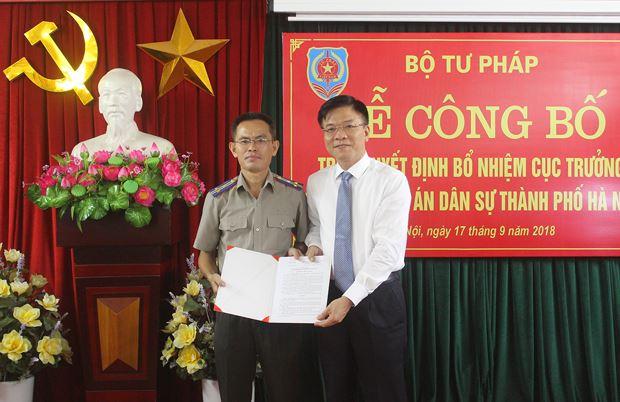 Bộ Tư pháp bổ nhiệm Cục trưởng Cục Thi hành án dân sự thành phố Hà Nội