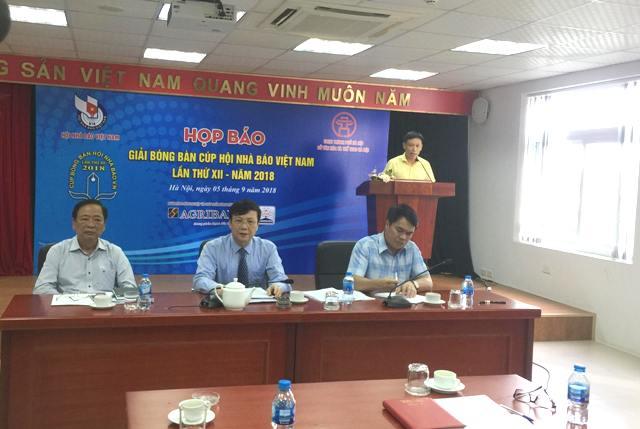 231 tay vợt sẽ tham dự Giải bóng bàn cúp Hội Nhà báo Việt Nam lần thứ XII