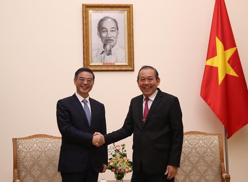 Phó Thủ tướng Trương Hòa Bình tiếp Chánh án Tòa án nhân dân tối cao Trung Quốc