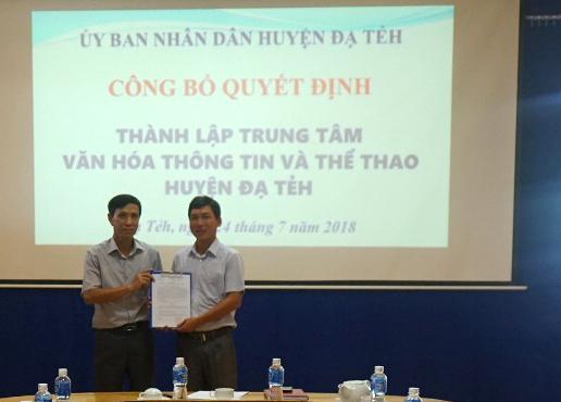Lâm Đồng: Sáp nhập các đơn vị thành Trung tâm Văn hóa, Thông tin và Thể thao