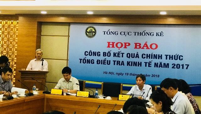 Công bố kết quả điều tra Kinh tế Việt Nam 2017