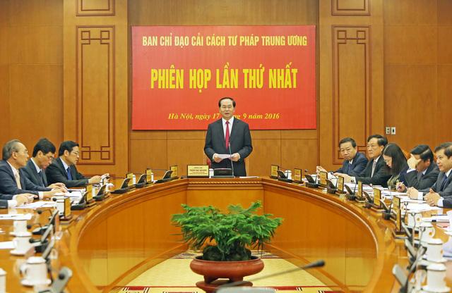 Những dấu ấn quan trọng của Chủ tịch nước Trần Đại Quang trong công tác cải cách tư pháp