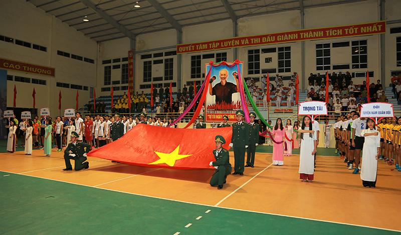 Khai mạc Giải bóng chuyền Cúp Quân đội mở rộng năm 2018