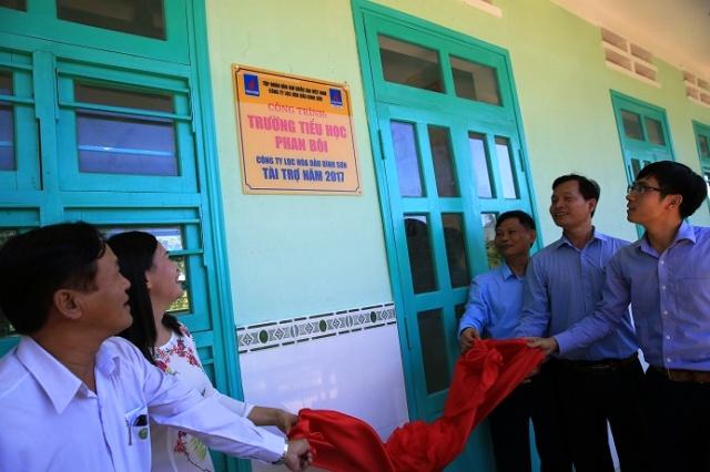 Khánh thành trường tiểu học Phan Bôi do BSR tài trợ