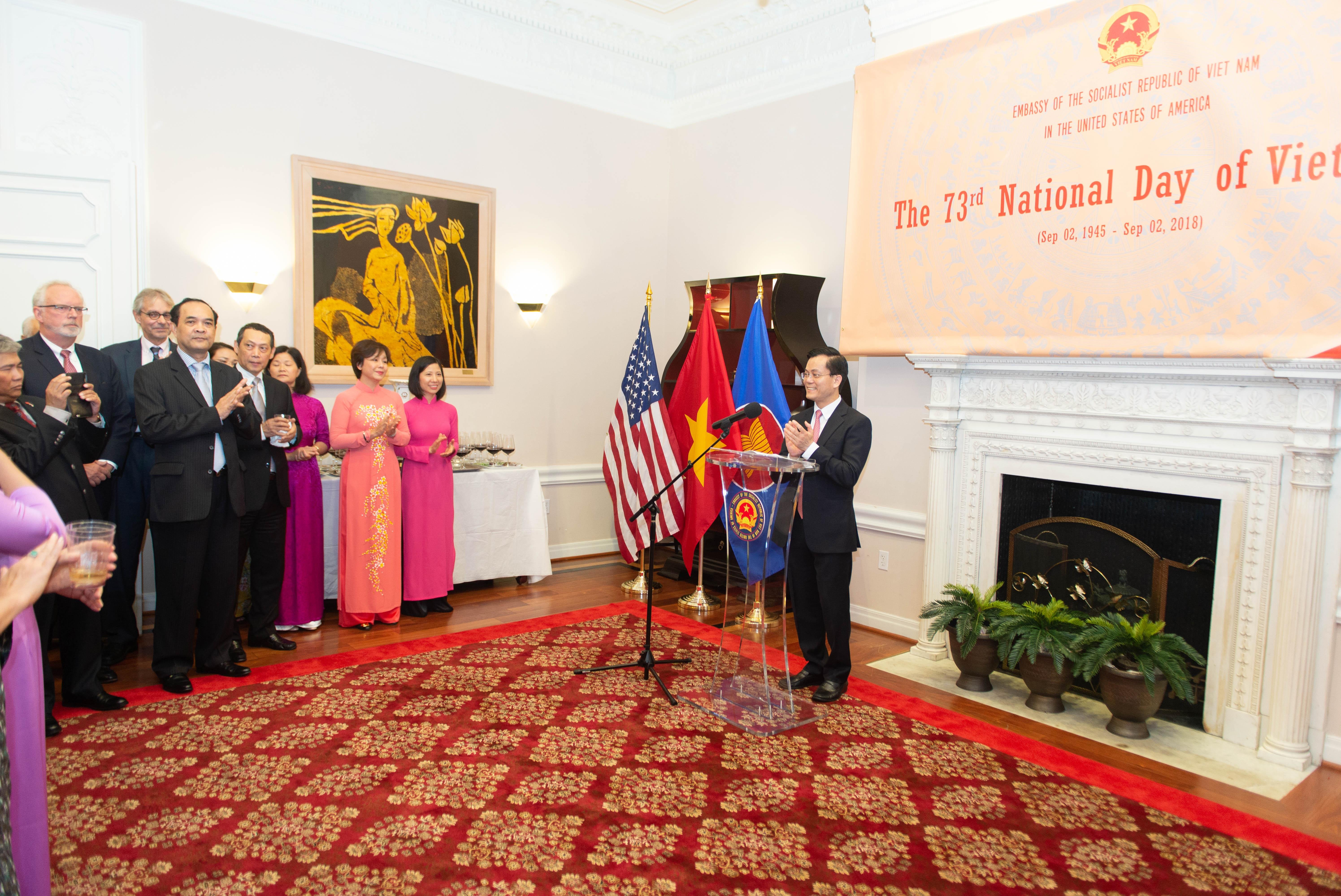 Đại sứ quán Việt Nam tại Hoa Kỳ chiêu đãi mừng Quốc khánh 2/9  