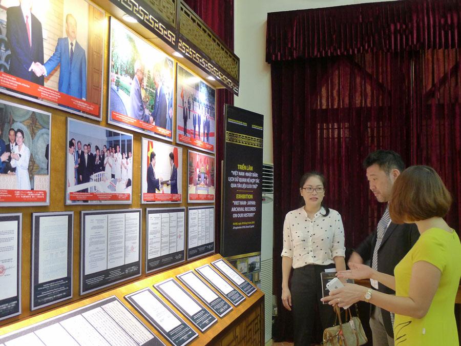 """Triển lãm trực tuyến """"Lịch sử quan hệ hợp tác Việt Nam - Nhận Bản qua tài liệu lưu trữ quốc gia tiêu biểu"""