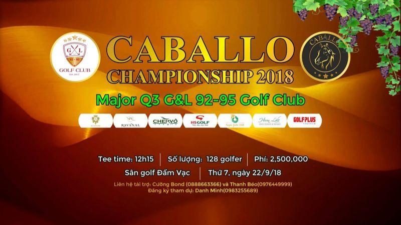 Giải golf Caballo Open Championship 2018 diễn ra vào ngày 22/9