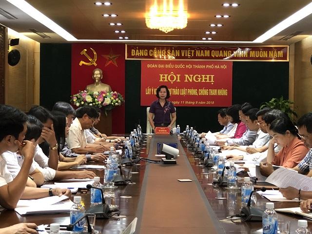 Đại biểu Quốc hội TP Hà Nội đóng góp vào dự thảo Luật Phòng, chống tham nhũng