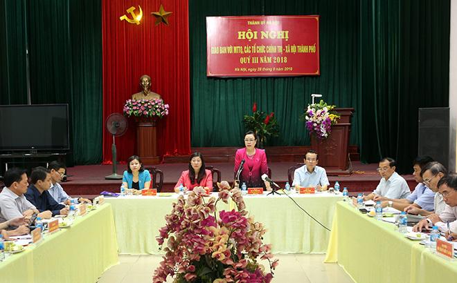 Hà Nội: Thí điểm Trưởng ban Dân vận đồng thời là Chủ tịch Ủy ban MTTQ ở những nơi đủ điều kiện