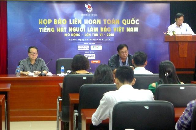43 đơn vị tham gia liên hoan toàn quốc Tiếng hát người làm báo Việt Nam mở rộng năm 2018