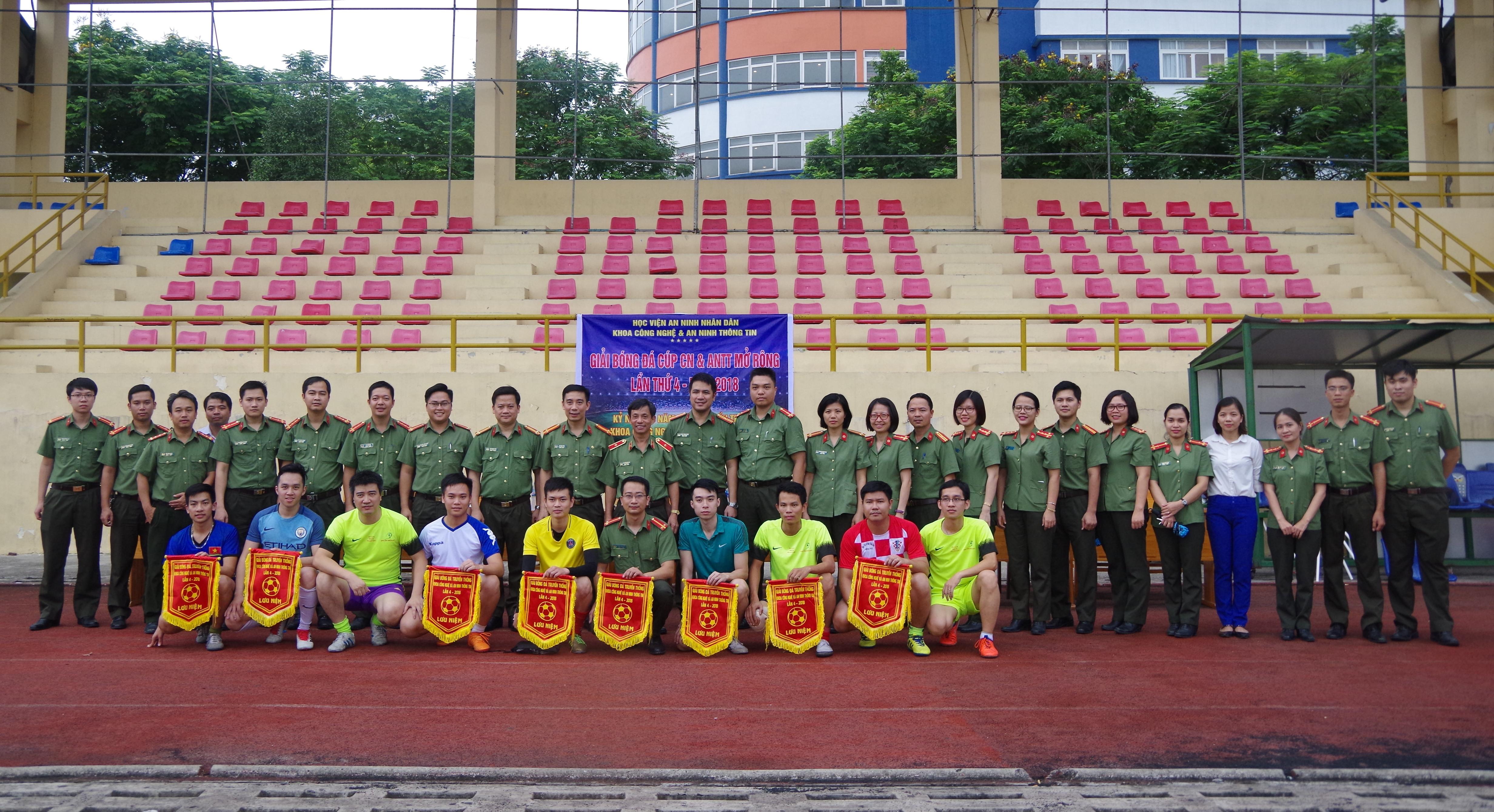 10 đội bóng tham dự Giải bóng đá Học viện An ninh Nhân dân mở rộng lần thứ 4
