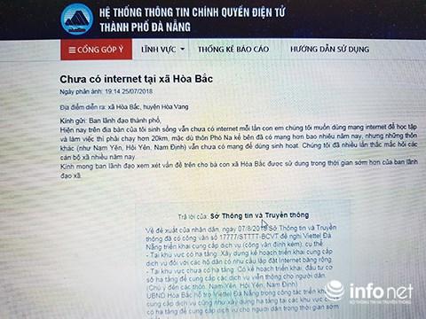 """Đà Nẵng: Xóa tình trạng """"trắng hạ tầng cáp quang Intenet"""" tại huyện Hòa Vang"""