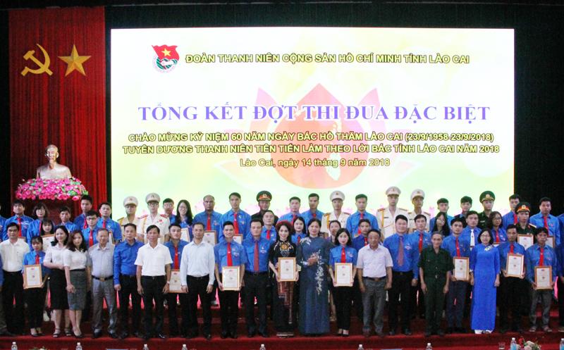 Lào Cai: Tuyên dương 60 thanh niên tiên tiến làm theo lời Bác