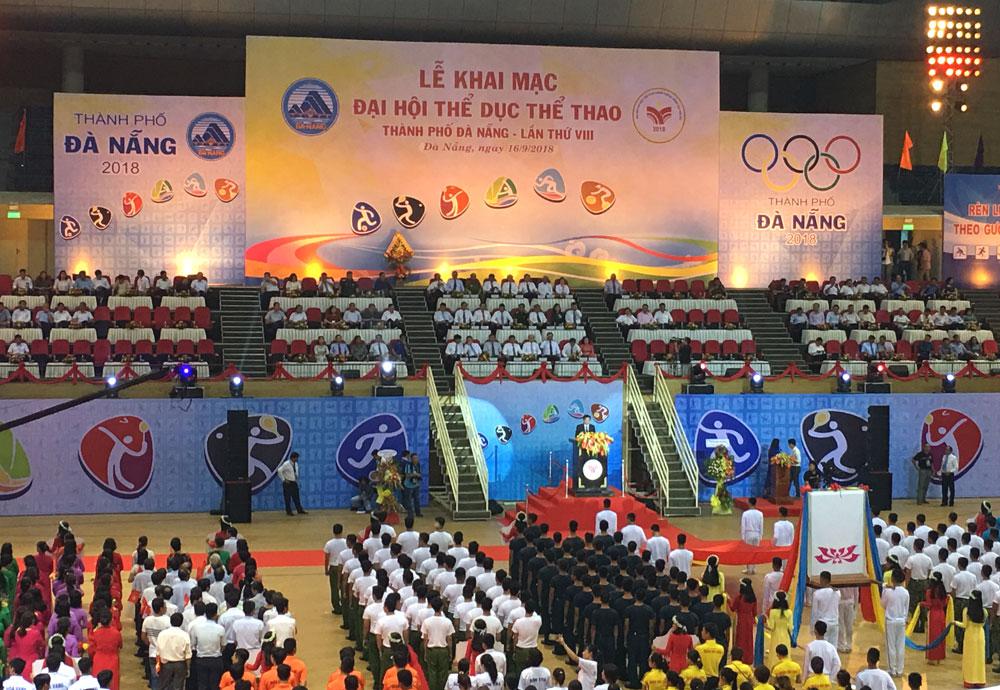 Khai mạc Đại hội Thể dục Thể thao thành phố Đà Nẵng lần thứ 8