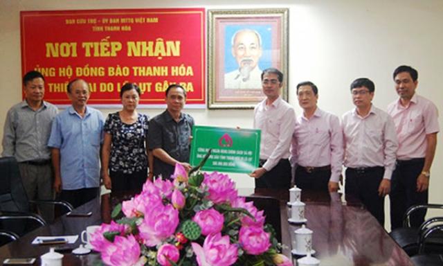 Ủng hộ 500 triệu đồng cho bà con vùng lũ tỉnh Thanh Hóa
