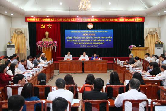 Phát huy vai trò của MTTQ Việt Nam trong công tác xây dựng chính sách, pháp luật