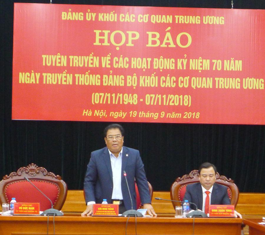 Nhiều hoạt động kỷ niệm 70 năm Ngày truyền thống Đảng bộ Khối các cơ quan Trung ương