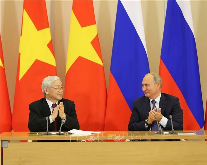 Tổng Bí thư Nguyễn Phú Trọng gửi Điện Cảm ơn Tổng thống Liên bang Nga Vladimir Putin