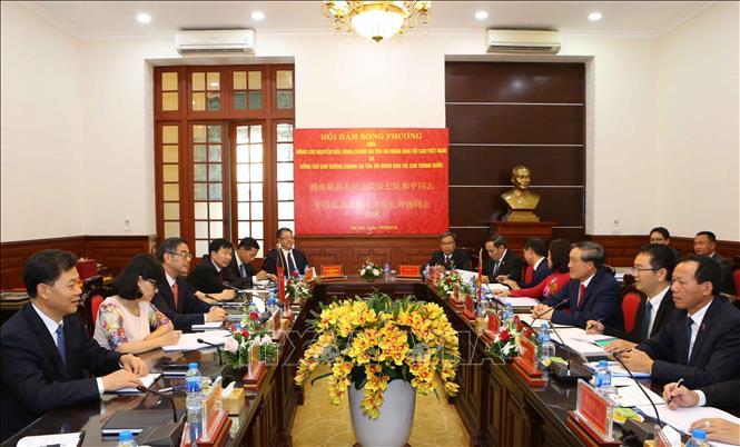 Chủ tịch nước Trần Đại Quang tiếp Chánh án TAND tối cao Trung Quốc Chu Cường